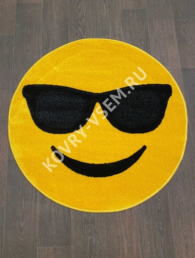 Ковер круг SMILE NC15 - YELLOW