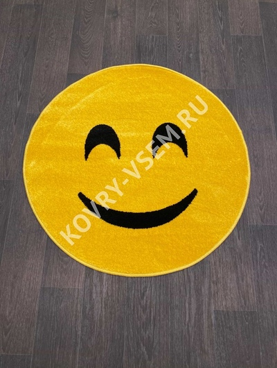 Ковер круг SMILE NC16 - YELLOW