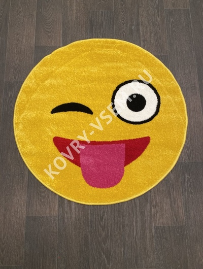 Ковер круг SMILE NC17 - YELLOW