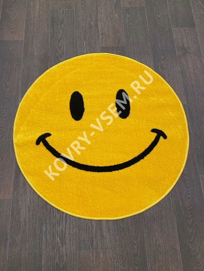 Ковер круг SMILE NC19 - YELLOW