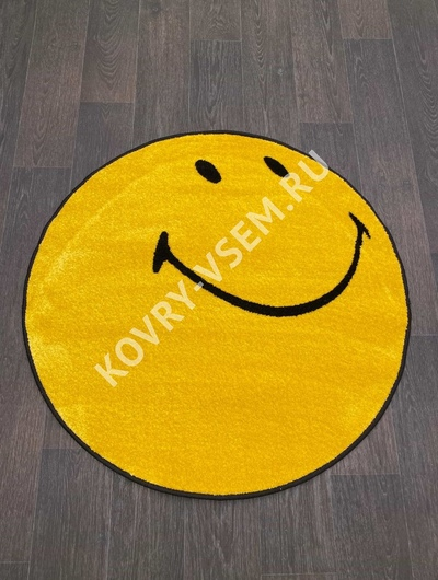Ковер круг SMILE NC21 - YELLOW